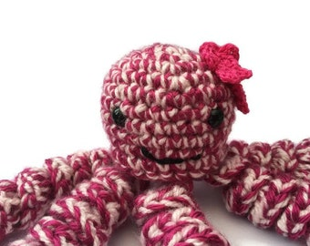 Toy Jellyfish - crochet jellyfish - amigurumi jellyfish - pink jellyfish toy - jellyfish plush -  jellyfish cuddly toy
