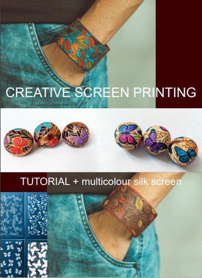 set for multicolor screen printing Creative screen printing
