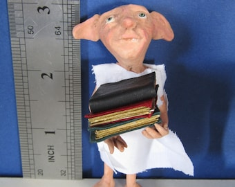 little dobby with books 12th scale by KastleKelm Miniatures