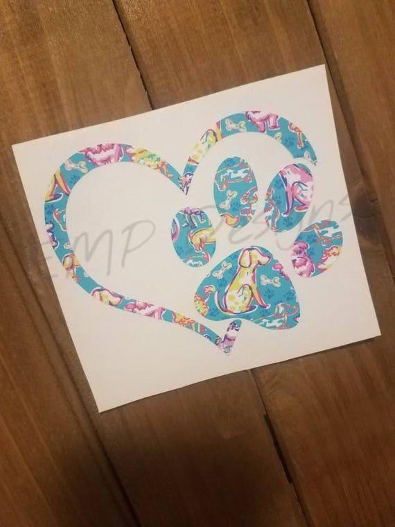 Patte Impression Sticker Sticker Chien Chien Nom Imprimé Personnalisé Patte Impression Sticker Animal Chien Voiture Autocollant Vinyle