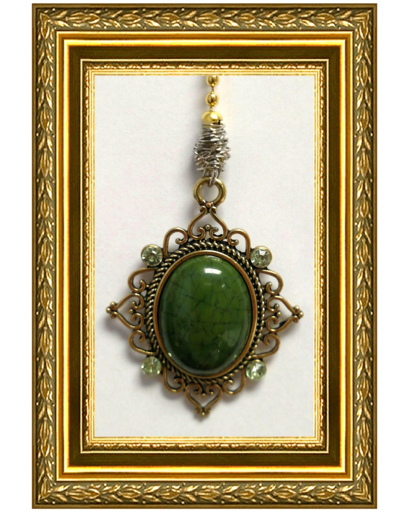 Jade  Pull Chain Vintage Gold Chain Ceiling Fan Pull Chain  Light Chain  Home Decor