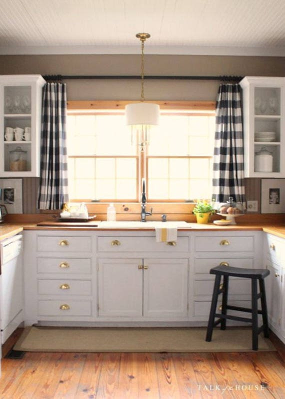 Kitchen Curtains Above Sink With Blinds