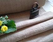 Heavy Grain sack fabric Plain Organic Natural Hemp Hungarian Handwoven Feed sack Flour sack Farmhouse Upholstery Fabric (GR081) By the meter