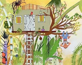 Art Print: Tree House