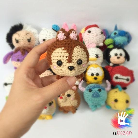 Tsum Tsum Chipmunks Chip and Dale Pattern