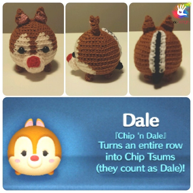 Tsum Tsum Chipmunks Chip and Dale Pattern | Etsy