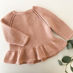 MADE TO ORDERCute and classic blouse with peplum on shoulders for girls
