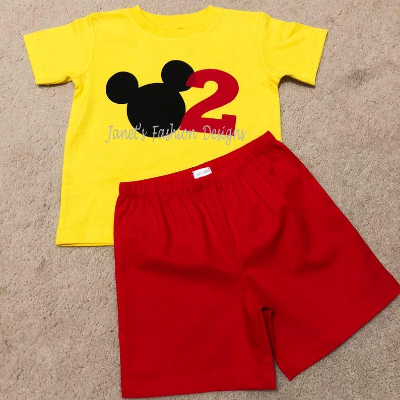 cdc7b9c3f Mickey Mouse Big Number Tshirt / Onesie Set Disney's   Etsy