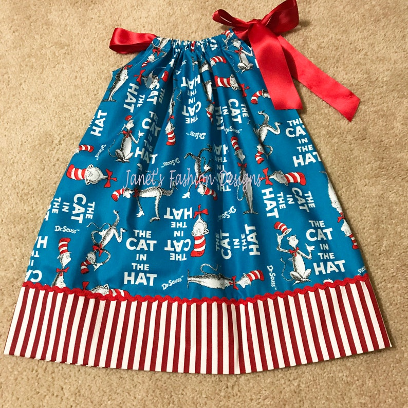Seuss Cat In The Hat Pillowcase Dress 18 Months Baby Girl Dress Dr Seuss Dr