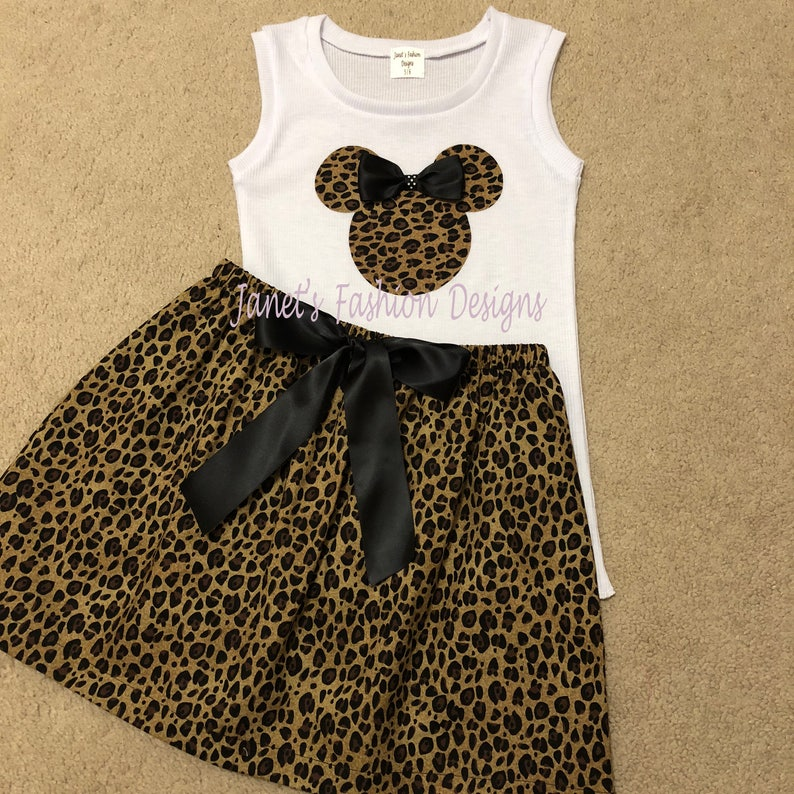 eec999cb51 Leopard Minnie Mouse Skirt and Tank Top Set Disney Minnie