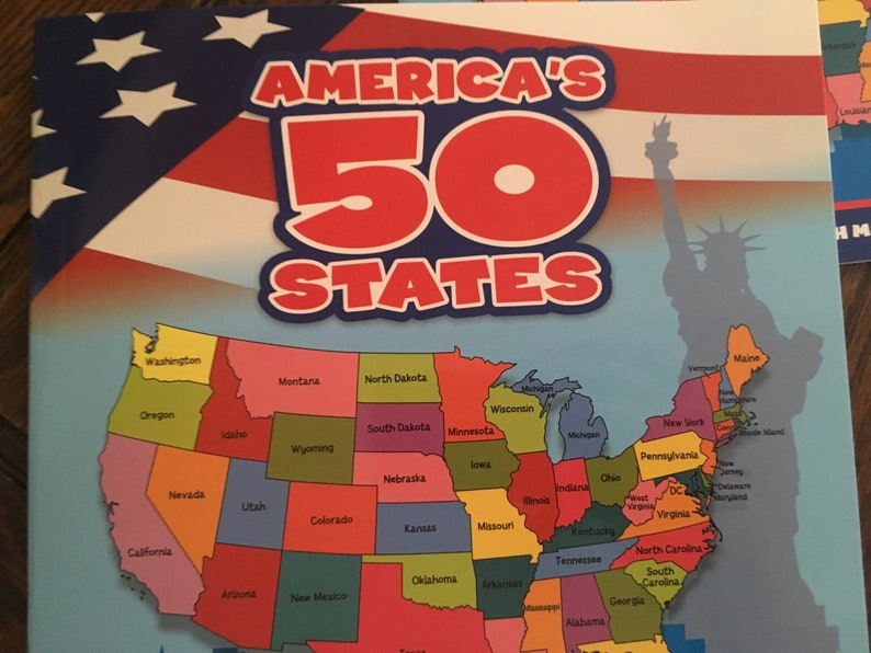50 States of the USA kids fact and fun book
