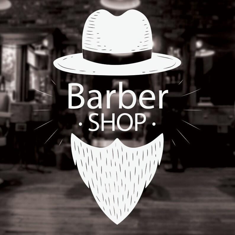Barber Shop Wall Art Broda Trilby Tradycyjne Fryzjer Okno Etsy