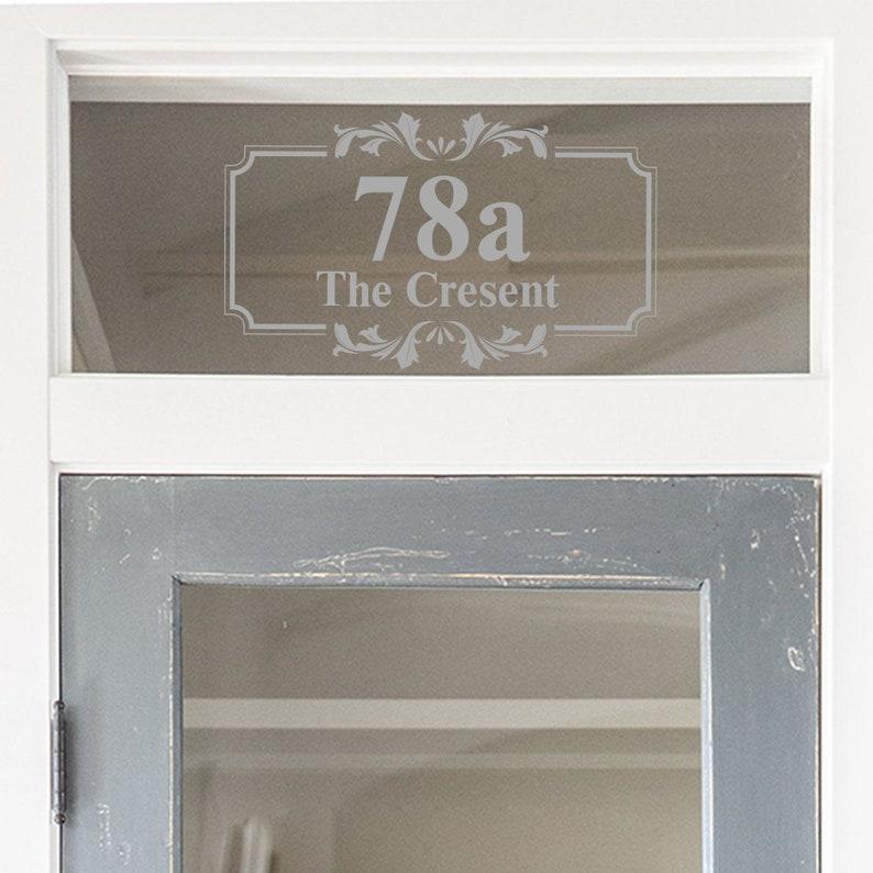 Glas Oberlicht Tür Nummer Milchglas Haus Anzahl | Etsy