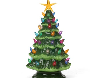 ceramic christmas tree tabletop christmas tree lights 115 medium green christmas treemulticolored lights lighted vintage tree - Paint Your Own Ceramic Christmas Decorations