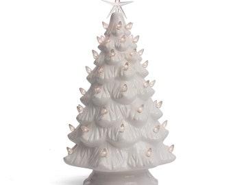 ceramic christmas tree tabletop christmas tree lights 155 large white christmas treeclear lights lighted vintage tree