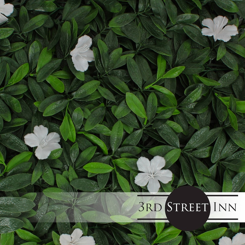 White Cuckoo Flower Greenery Panels  Outdoor Artificial Plant image 0