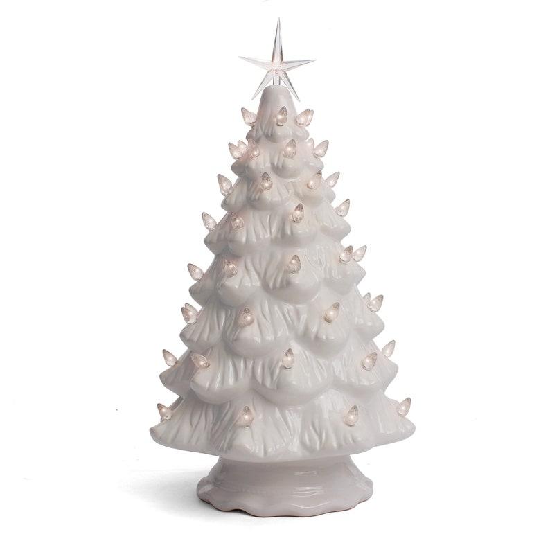 Ceramic Christmas Tree Tabletop Christmas Tree Lights Etsy
