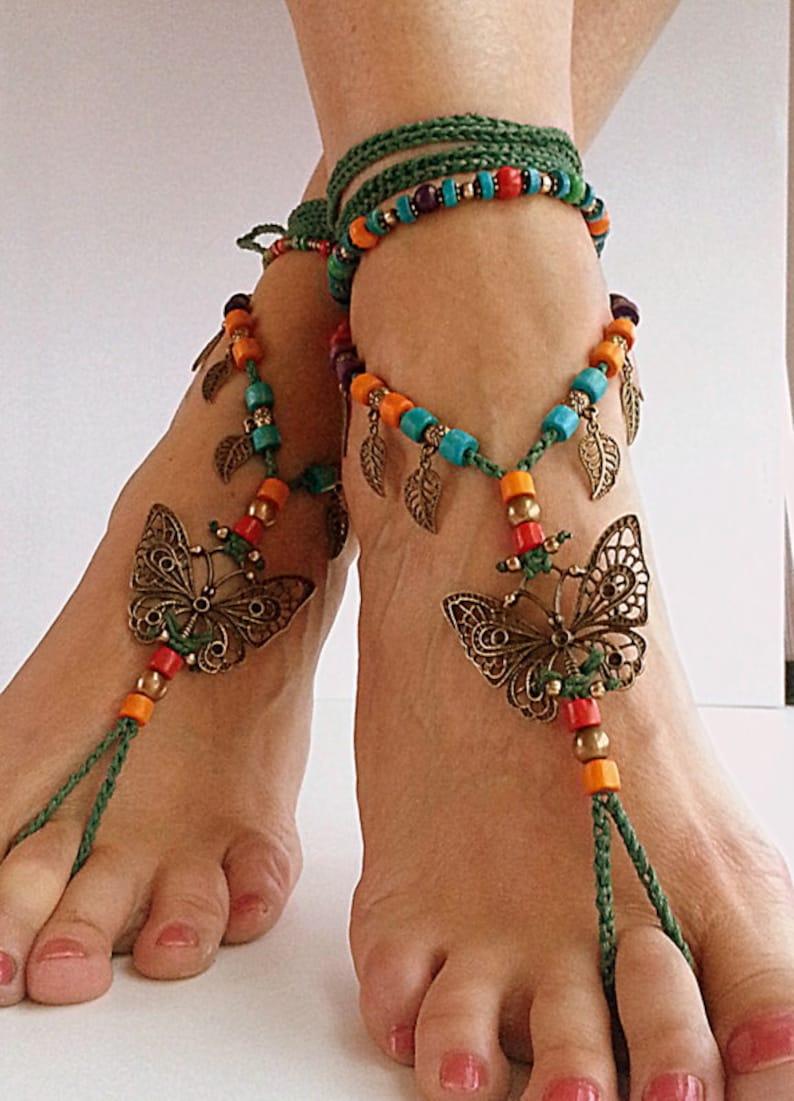 Mariposa Boho sandalias pies descalzos pies descalza boda de  287aba367558