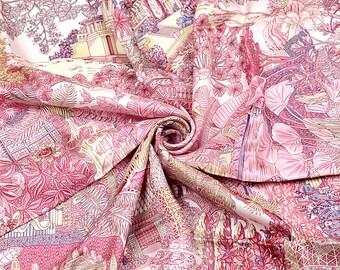 NIB HERMES foulard soie « Jardins d hiver » par Annie Faivre Vintage 90cm  Carre 100 % Auth 7bdfb93751a
