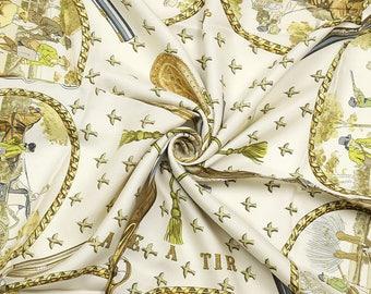 8b05d1eb1c1d HERMES foulard soie « Chasse Tir » par Philippe Ledoux 90cm Carre 100 % Auth