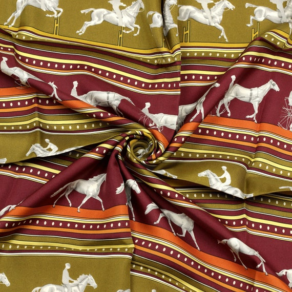HERMES SCARF Silk Sequences by Caty Latham 90cm   Etsy 834d631fbab