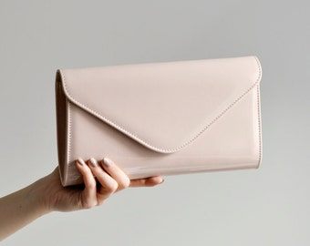 Nude Clutch Bag, Elegant Purse Evening Bags, Removable Strap, Purse Crossbody, Maid of honor gift, Convertible clutch bag