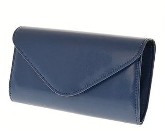 774a7e13a4 Navy Blue Clutch Bag Party Evening bag Maid of honor gift Eco leather clutch