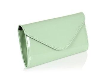 e5a0d67bb2a3b5 Mint Clutch Purse, Elegant Purse Evening Bags, Removable Strap, Mint green  Purse Crossbody, Maid of honor gift, Convertible clutch bag
