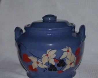 Cookie Jar, Blue Stoneware