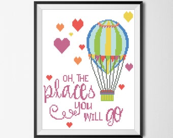 photo about Oh the Places You'll Go Balloon Printable Template titled Oh the spots Etsy