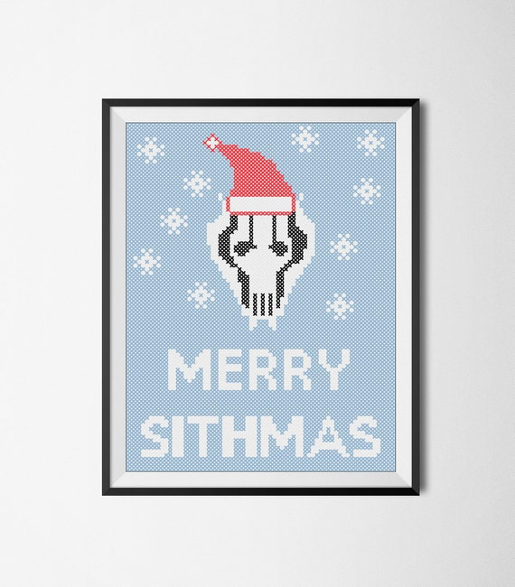 Merry Sithmas Star wars Cross Stitch Pattern