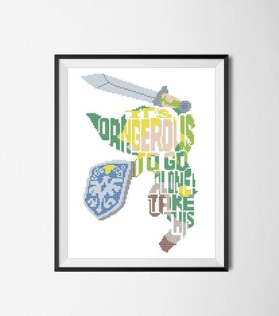 BOGO FREE Legend of Zelda Link Quote Zelda It\'s dangerous | Etsy