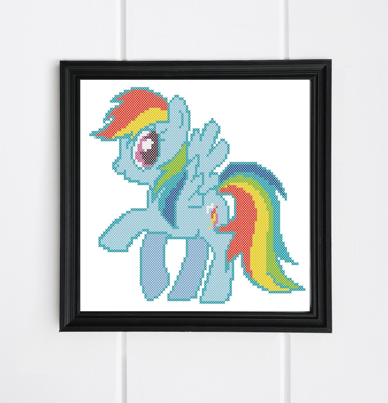 Bogo Free Rainbow Dash Pony My Little Pony Cross Stitch Etsy