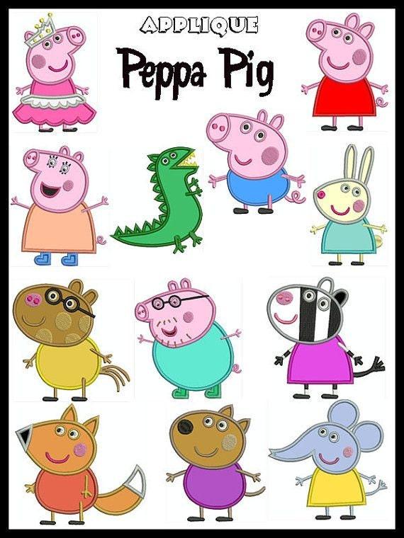 bogo free peppa pig characters mummy pig daddy pig george etsy