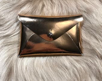 Business card case/Recycled leather card holder