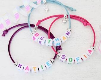 Personalised Name Friendship Bracelet Party Bag Favours - Kids Party Bag Fillers, Loot Bag Fillers, Personalised Jewellery, Birthday Gift