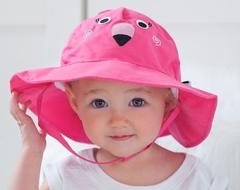 0178b364 Franny the Flamingo Sun Hat Beach Hat for Babies and Toddlers