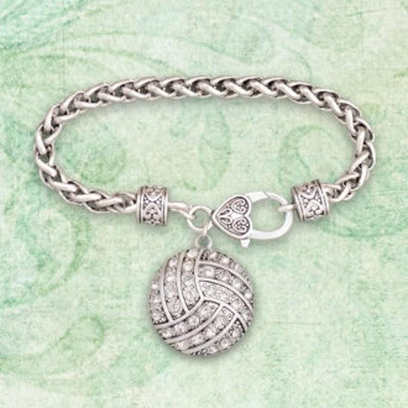 17b2154f536e Pulsera de diamantes de imitación de voleibol