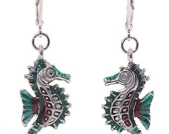 Seahorse Nautical Dangle Earrings