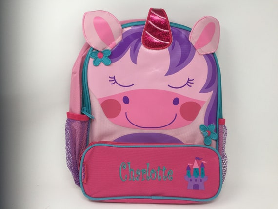 6fff2e9952 Stephen Joseph Sidekick Backpack Unicorn Monogrammed School