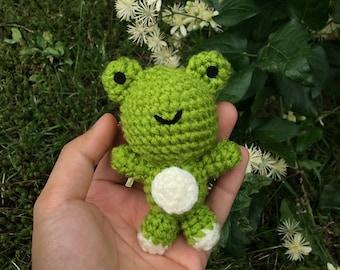 Little Frog - Handmade Crocheted Amigurumi Keychain