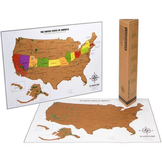 Scratch Off Map Of The United States - 17 (h) x 24 ( w) Inches - White on red usa map, folding usa map, black usa map, white usa map, gold usa map, signature usa map,
