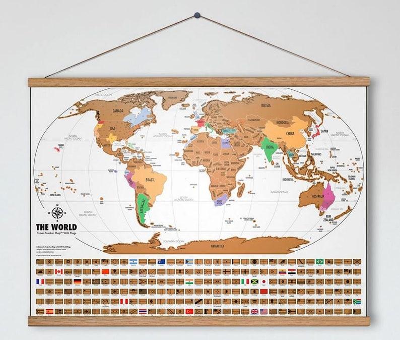 Scratch Off World Map Travel Tracker Map Original Map Etsy