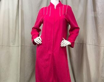 Velour House Coat Zip Front Robe Pink    Fuzzy Pink Sleepwear Loungewear  Women s a712c3e67