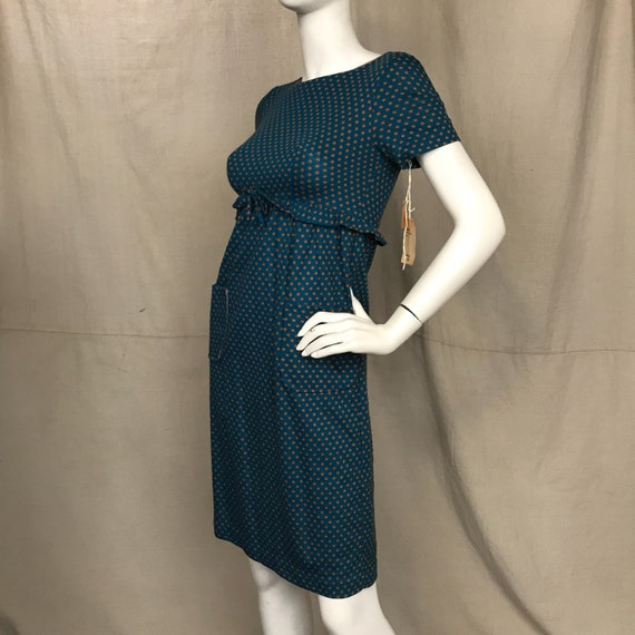 Blue 60s Dress Short Sleeve Minx Modes // Women's… - image 3