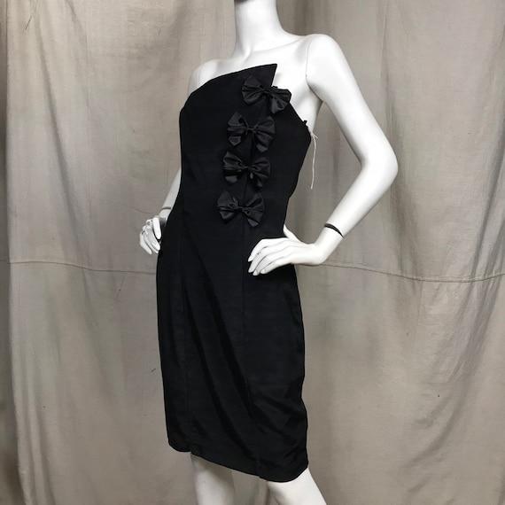 80s Formal Dress Strapless // DEADSTOCK Vintage Pa