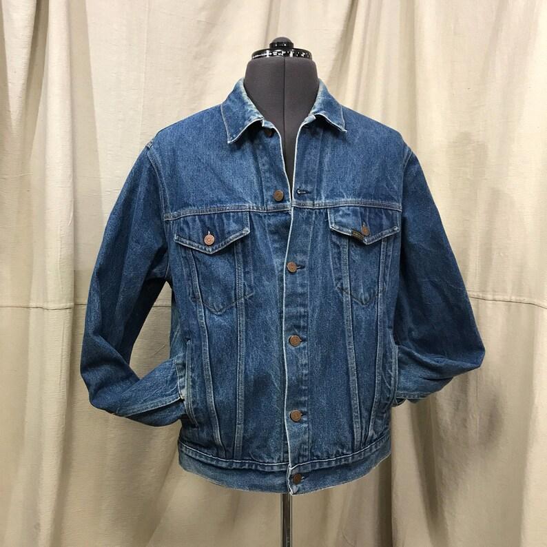 1a8fd3f47f7 Sears Denim Jacket Unisex Hipster Boho    60s 70s Classic Jean