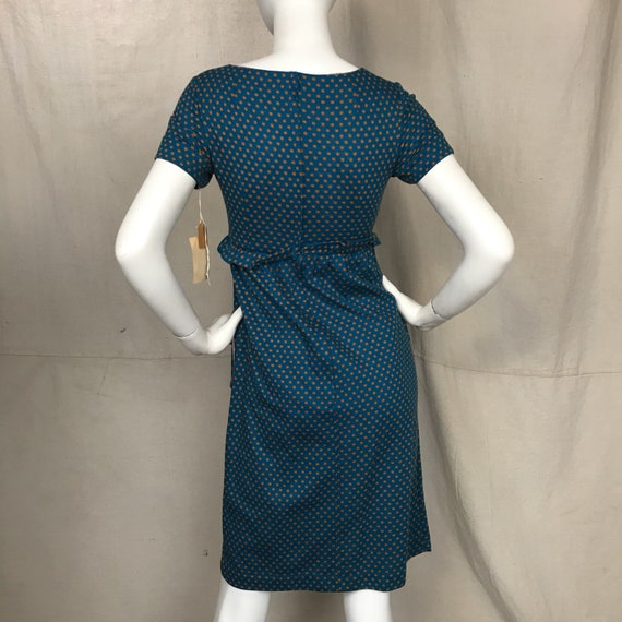 Blue 60s Dress Short Sleeve Minx Modes // Women's… - image 4