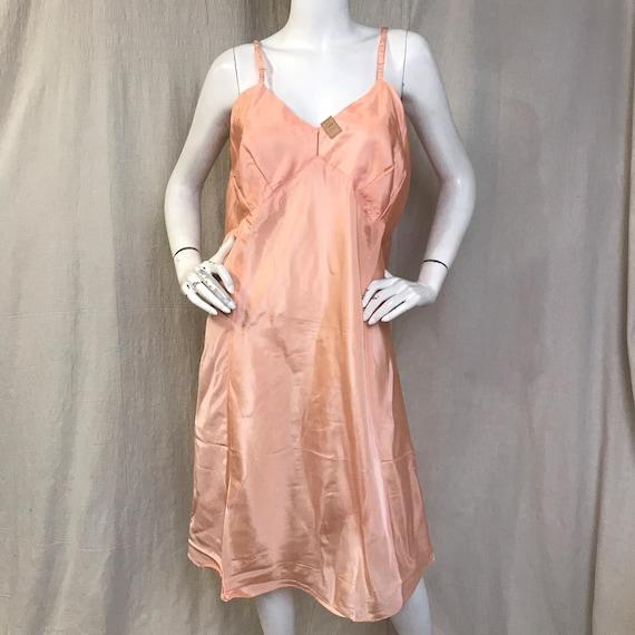 30s 40s Slip Dress Pink Nightie DEADSTOCK // Rayon