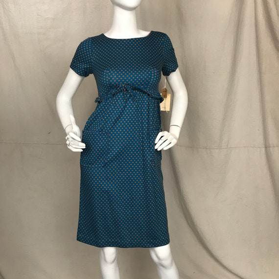 Blue 60s Dress Short Sleeve Minx Modes // Women's… - image 2